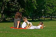 Family In Bushnell Park - Hartford, CT