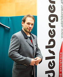 28.01.2014,  Marriott, Wien, AUT, Sochi 2014, Einkleidung OeOC, im Bild Thomas Koch (Eishockey, AUT) // Thomas Koch (Icehockey, AUT) during the outfitting of the Austrian National Olympic Committee for Sochi 2014 at the  Marriott in Vienna, Austria on 2014/01/28. EXPA Pictures © 2014, PhotoCredit: EXPA/ JFK