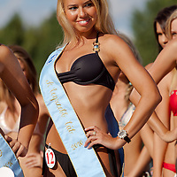 Bettina Patai winner of the special award for the most beautyful leg during the Miss Bikini Hungary beauty contest held in Budapest, Hungary on August 29, 2010. ATTILA VOLGYI