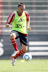 12.07.2011, Bayern Trainingsgelaende, Muenchen, GER, 1.FBL, Training Bayern Muenchen, im Bild  Franck Ribery (Bayern #7) // during the training session,  on 2011/07/12, Training Ground, Munich, Germany, EXPA Pictures © 2011, PhotoCredit: EXPA/ nph/  Straubmeier       ****** out of GER / CRO  / BEL ******
