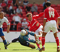 Photo: Leigh Quinnell.<br /> Nottingham Forest v Brighton & Hove Albion. Coca Cola League 1. 19/08/2006. Grant Holt scores for Forest but it is disalowed.