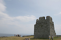 Castle ruin on Inis Oirr the Aran Islands Galway Ireland
