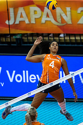 15-10-2018 JPN: World Championship Volleyball Women day 16, Nagoya<br /> Netherlands - USA 3-2 / , Celeste Plak #4 of Netherlands