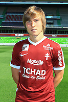 Janis Ikaunieks poses for a portrait during the Metz squad photo call for the 2016-2017 Ligue 1 season on September 15, 2016 in Metz, France<br /> Photo : Fred Marvaux / Icon Sport