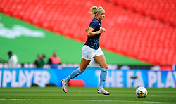 Steph Houghton of Manchester City Women warms up prior to kick off - Mandatory by-line: Nizaam Jones/JMP - 29/08/2020 - FOOTBALL - Wembley Stadium - London, England - Chelsea v Manchester City - FA Women's Community Shield