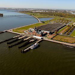 Aerial Central Railroad of New Jersey Terminal   New York Harbor
