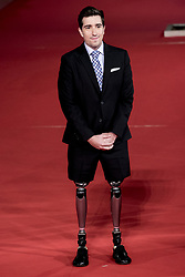 October 28, 2017 - Rome, Italy - Author Jeff Bauman arrive on the red carpet of the film 'Stronger' at the Rome Film Fest in Rome, Saturday, Oct. 28, 2017. (Credit Image: © Massimo Valicchia/NurPhoto via ZUMA Press)
