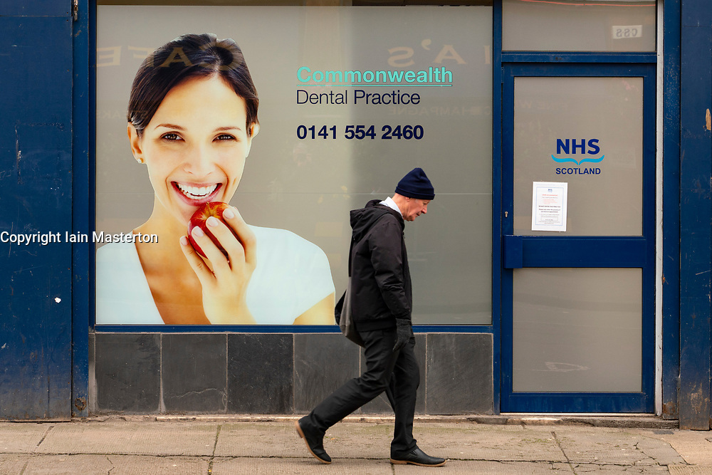 Glasgow, Scotland, UK. 7 October 2020. Time Out magazine has named Dennistoun in the East End of Glasgow as one of the world's coolest districts. Pictured;  Dentist shop on Duke Street Iain Masterton/Alamy Live News