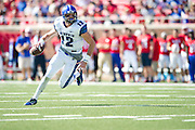 DALLAS, TX - OCTOBER 25:  Paxton Lynch #12 of the Memphis Tigers scrambles against the SMU Mustangs during the 2nd quarter on October 25, 2014 at Gerald J. Ford Stadium in Dallas, Texas.  (Photo by Cooper Neill/Getty Images) *** Local Caption *** Paxton Lynch