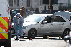 © Licensed to London News Pictures. 13/04/2019. London, UK. The scene in Holland Park after shots were fired by police near the Ukranian embassy. Photo credit: Peter Macdiarmid/LNP