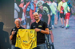 Former rider and coach Bojan Ropret at Reception of Slovenian rider Luka Mezgec after  he finished his first Tour de France 2020 and placed second at 2 stages, on September 21, 2020 in Joze Plecnik garden, Ljubljana, Slovenia. Photo by Vid Ponikvar / Sportida
