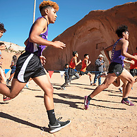 Boys varsity 5000 meter run at the NMAA District 1-4A Championship meet at Red Rock Park Saturday, Nov. 2 in Church Rock.