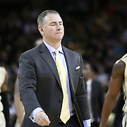 Central Florida head coach Donnie Jones walks to the locker room at the end of the first half of a Conference USA NCAA basketball game between the Rice Owls and the Central Florida Knights at the UCF Arena on January 22, 2011 in Orlando, Florida. Rice won the game 57-50 and extended the Knights losing streak to 4 games.  (AP Photo/Alex Menendez)