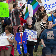 Protest of United States President Donald Trump on President's Day 2017 in Kansas City, Missouri.