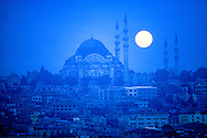 Süleymaniye Mosque, Istanbul, Turkey, Sunrise