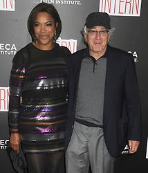 NEW YORK, NY - SEPTEMBER 21: Grace Hightower, Robert De Niro attends 'The Intern' New York Premiere at Ziegfeld Theater on September 21, 2015 in New York City...People:  Grace Hightower, Robert De Niro. (Credit Image: © SMG via ZUMA Wire)
