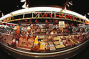 Myron's Meats at the housewives market in Oakland, California. USA.