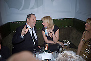 Harvey Weinstein and Amy Sacco, Weinstein Bafta after-party in association with Chopard. Bungalow 8. London. 10  February 2008.  *** Local Caption *** -DO NOT ARCHIVE-© Copyright Photograph by Dafydd Jones. 248 Clapham Rd. London SW9 0PZ. Tel 0207 820 0771. www.dafjones.com.