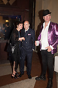 LAUREN JONES; MICK JONES; PHIL DIRTBOX, Sarah Lucas- Scream Daddio party hosted by Sadie Coles HQ and Gladstone Gallery at Palazzo Zeno. Venice. 6 May 2015.