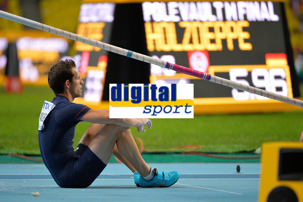 Athletics - IAAF World Championships 2013 - Stadium Loujniki , Moscow , RUSSIA - 10 to 18/08/2013 - Photo JULIEN CROSNIER / KMSP / DPPI - Day 3 - 12/08/13 - Pole Vault Men - Renaud Lavillenie (FRA) / Silver Medal