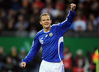 Fotball<br /> Tyskland v Finland<br /> Foto: Witters/Digitalsport<br /> NORWAY ONLY<br /> <br /> 14.10.2009<br /> <br /> Jubel 0:1 Torschuetze Jonatan Johansson Finnland<br /> Fussball WM-Qualifikation Deutschland - Finnland