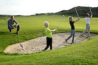 NOORDWIJK - Stappenplan met golfpro Jochem Burghouts. COPYRIGHT KOEN SUYK