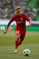 August 15, 2017 - Lisbon, Portugal - Steaua's forward Catalin Golofca in action during the UEFA Champions League play-offs first leg football match between Sporting CP and FC Steaua Bucuresti at the Alvalade stadium in Lisbon, Portugal on August 15, 2017. (Credit Image: © Pedro Fiuza/NurPhoto via ZUMA Press)