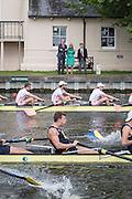 Henley Royal Regatta, Henley on Thames, Oxfordshire, 29 June-3 July 2015.  Saturday  11:31:16   02/07/2016  [Mandatory Credit/Intersport Images]<br /> <br /> Rowing, Henley Reach, Henley Royal Regatta.<br /> <br /> The Ladies' Challenge Plate<br />   University of California, Berkeley, U.S.A. v   Leander Club passing Temple Island