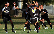 Taft players celebrate a goal against Mt. San Antonio during the California Community College Athletic Association soccer state championship game on Sunday, Dec. 6, 2009 in Sacramento, California. Mt. San Antonio defeated Taft.
