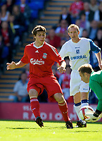 BIRKENHEAD, ENGLAND - Saturday, July 12, 2008: Liverpool's Emiliano Insua during his side's first pre-season match of the 2008/2009 season against Tranmere Rovers at Prenton Park. (Photo by David Rawcliffe/Propaganda)