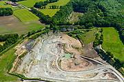 Nederland, Gelderland, Achterhoek, 29-05-2019; Winterswijk, steengroeve wordt geëxploiteerd door SIBELCO B.V. Winterswijkse Steen- en Kalkgroeve. Dagbouwmijn voor het delven van voornamelijk kalksteen.<br /> Winterswijk Quarry and Limestone Quarry.<br /> luchtfoto (toeslag op standard tarieven);<br /> aerial photo (additional fee required);<br /> copyright foto/photo Siebe Swart