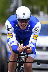 June 7, 2017 - Bourgoin Jallieu, France - BOURGOIN-JALLIEU, FRANCE - JUNE 7 : DECLERCQ Tim (BEL) Rider of Quick-Step Floors Cycling team during stage 4 of the 69th edition of the Criterium du Dauphine Libere cycling race, an individual time trail of 23,5 kms between La Tour-du-Pin and Bourgoin-Jallieu on June 07, 2017 in Bourgoin-Jallieu, France, 7/06/2017 (Credit Image: © Panoramic via ZUMA Press)