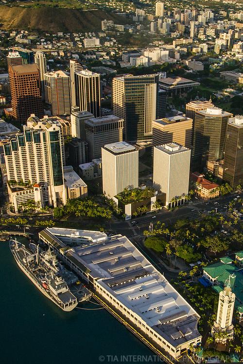 Aloha Tower & Pier 11 Cruise Ship Terminal, Downtown Honolulu