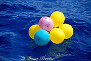 party balloons floating in the ocean miles from shore,<br /> They may be eaten by marine animals which will choke<br /> on them. Azores Islands ( North Atlantic Ocean )