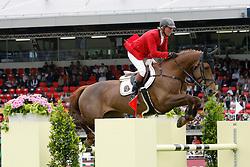 Lansink Jos (BEL) - Valentina van't Heike<br /> FEI Nations Cup Sankt Gallen 2011<br /> © Hippo Foto - Beatrice Scudo