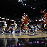 UNCASVILLE, CONNECTICUT- DECEMBER 4:  Brooke McCarty #11 of the Texas Longhorns shoots for three during the UConn Huskies Vs Texas Longhorns, NCAA Women's Basketball game in the Jimmy V Classic on December 4th, 2016 at the Mohegan Sun Arena, Uncasville, Connecticut. (Photo by Tim Clayton/Corbis via Getty Images)