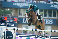 Hanley Cameron (IRL) - Antello Z<br /> Furusiyya FEI Nations Cup<br /> International Horse Show - Hickstead 2014<br /> © Hippo Foto - Jon Stroud