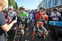 Sykkel<br /> Artic Race 2015<br /> Foto: imago/Digitalsport<br /> NORWAY ONLY<br /> <br /> Praesentation der Trikottraeger v.l.n.r. Alexander KRISTOFF ( NOR / Katusha / Gesamtwertung ) - Edvald BOASSON HAGEN ( NOR / MTN Qhubeka / Berg ) - Shane ARCHBOLD ( NZL/ BORA Argon 18 / Viking Jersey ) - Sam BENNETT ( IRL/ BORA Argon 18 / Nachwuchs ) - Querformat - quer - horizontal - Event / Veranstaltung: 3. Arctic Race of Norway 2015 - Stage 3 / 3.Etappe: Senja nach Malselv 175.0km - Location / Ort: Malselv - Troms - Norway - Norwegen - Europe - Europa - Date / Datum: 15.08.2015
