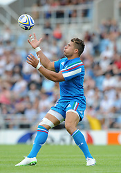 Marcello De Gaspari of Italy - Photo mandatory by-line: Dougie Allward/JMP - Mobile: 07966 386802 - 11/07/2015 - SPORT - Rugby - Exeter - Sandy Park - European Grand Prix 7s