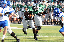 12 October 2013:  Devonte Jones during an NCAA division 3 football game between the North Park vikings and the Illinois Wesleyan Titans in Tucci Stadium on Wilder Field, Bloomington IL