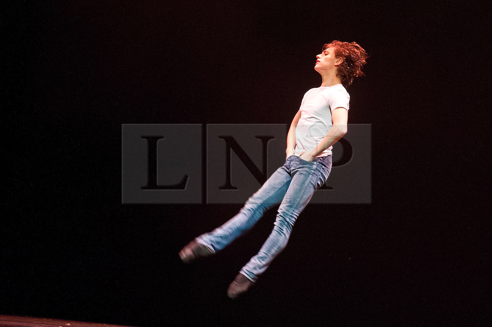 © Licensed to London News Pictures. 13/03/2012. London, UK. Men in Motion return to Sadler's Wells after sell out performance in January of this year. Featuring two of the biggest stars of the dance world, former Royal Ballet Principal Ivan Putrov and dance sensation, Sergei Polunin star in a new production of Men in Motion, highlighting the range and virtuosity of the male dancer. Picture features Sergei Polunin in James Dean. Photo credit : Tony Nandi/LNP