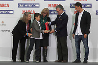 Betis´s President receives a special award during MARCA Football Awards ceremony in Madrid, Spain. November 10, 2014. (ALTERPHOTOS/Victor Blanco)