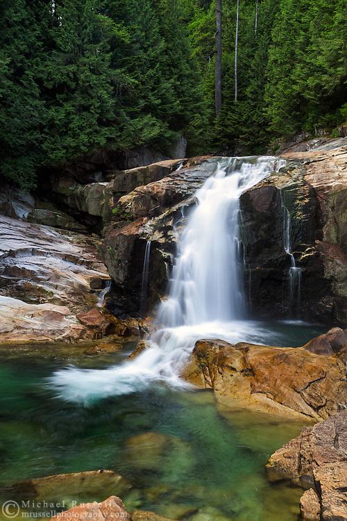 Lower Falls in Golden Ears Provincial Park in Maple Ridge, British Columbia, Canada.