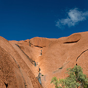 Detail of rock walls of Uluru