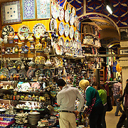 A store selling ceramics in Istanbul's Grand Bazaar