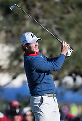 January 27, 2017 - San Diego, Calif, USA - Brandt Snedeker tees off during the second day of the Farmers Insurance Open golf tournament at Torrey Pines in San Diego, Calif. on Friday, January 27, 2017. (Photo by Kevin Sullivan, Orange County Register/SCNG) (Credit Image: © Kevin Sullivan/The Orange County Register via ZUMA Wire)