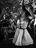 Girl dancing to the drums of Central Park