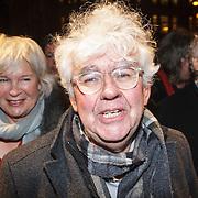 NLD/Amsterdam/20150306 - Boekenbal 2015, Geert Mak en partner Mietsie Ruiters