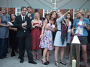 Alexandra Shulman, Editor of Vogue & Phil Popham, Managing Director of Land Rover<br /> host the 40th Anniversary of Range Rover. The Orangery at Kensington Palace. London. 1 July 2010. -DO NOT ARCHIVE-© Copyright Photograph by Dafydd Jones. 248 Clapham Rd. London SW9 0PZ. Tel 0207 820 0771. www.dafjones.com.