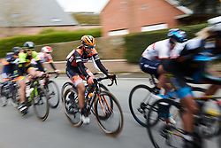 Jip van den Bos (NED) in the break on the final lap at Le Samyn des Dames 2019, a 101 km road race from Quaregnon to Dour, Belgium on March 5, 2019. Photo by Sean Robinson/velofocus.com